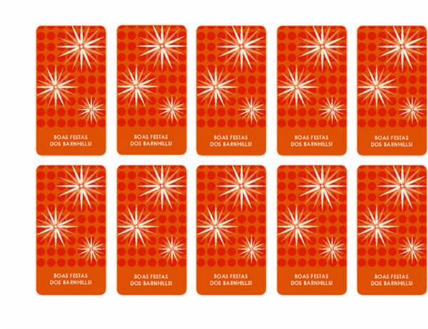Etiquetas de ofertas festivas (estrutura com flocos de neve, suporta Avery 5871, 8871, 8873, 8876 e 8879)