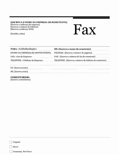 Impressão em série de fax (Tema Urbano)
