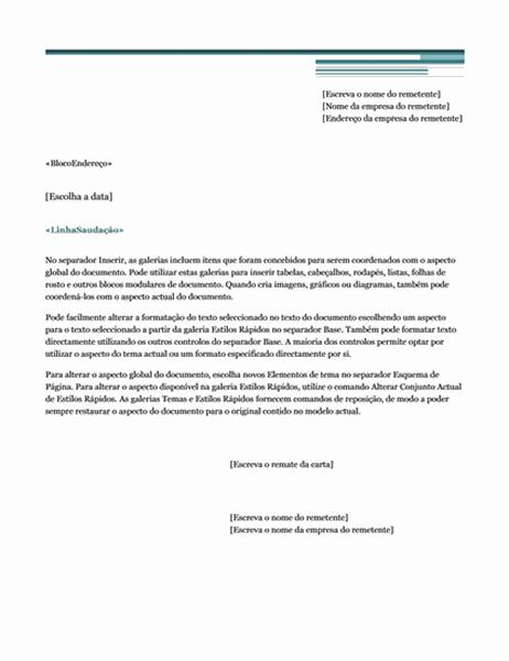 Impressão em série de carta (Tema Urbano)