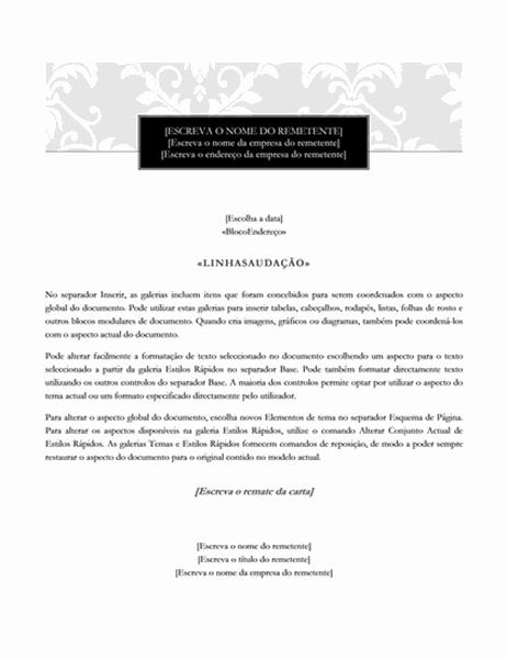 Carta de impressão em série (Design Rigor)