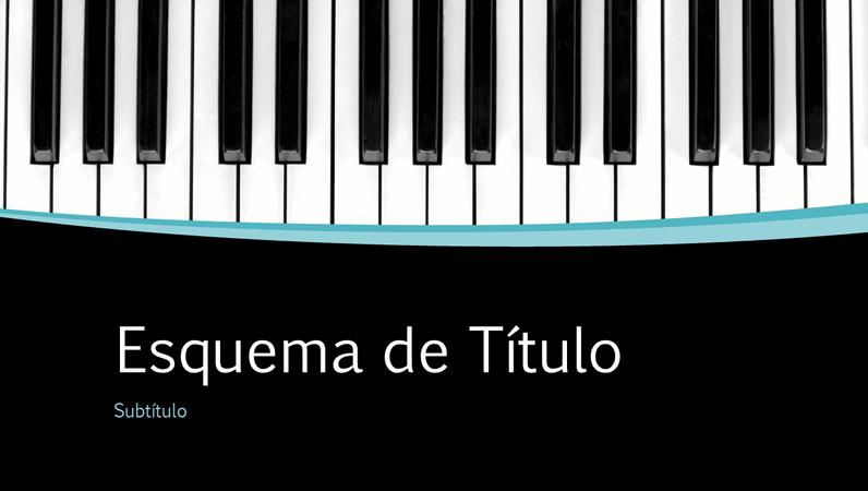 Apresentação curvilínea musical (ecrã panorâmico)