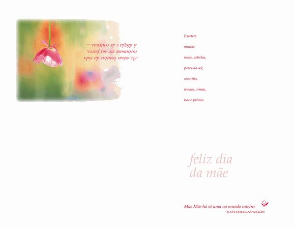 Cartão do Dia do Mãe (cor esbatida)
