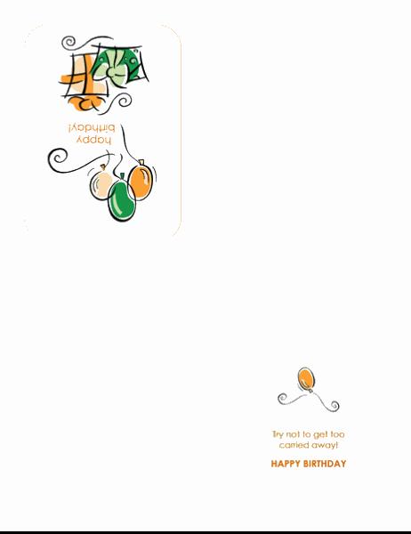 Cartão de aniversário (com balões)