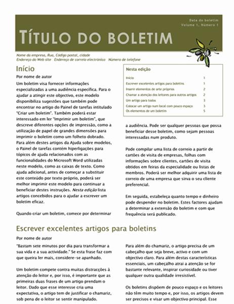 Boletim comercial (2 col., 6 p., mailer)
