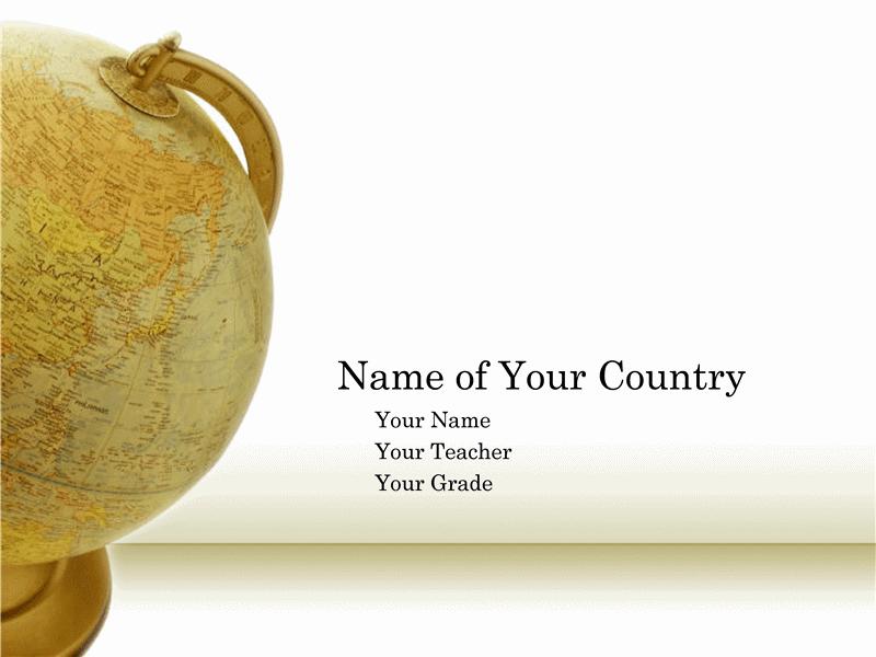 Apresentação para relatório sobre país