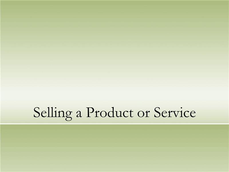 Apresentação de um produto ou serviço