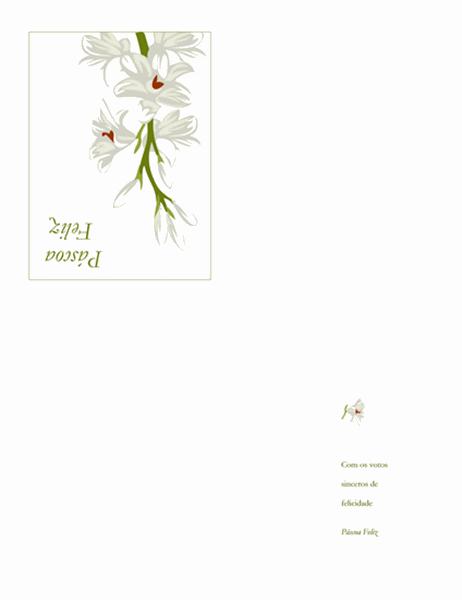 Cartão da Páscoa (com flores)