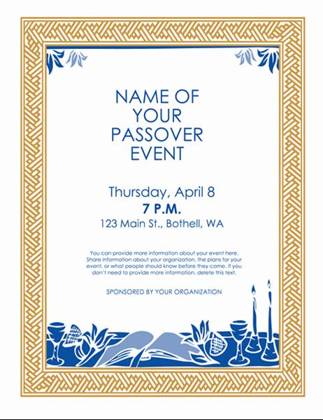 Panfleto para um evento da Páscoa Hebraica