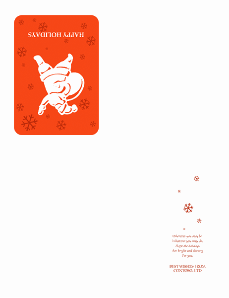 Cartão de Boas Festas (com o Pai Natal)