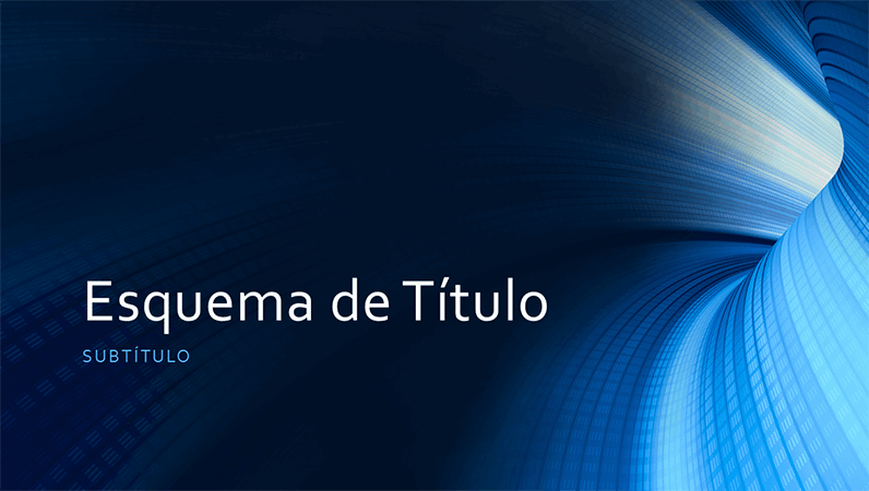 Apresentação empresarial com túnel azul digital (ecrã panorâmico)