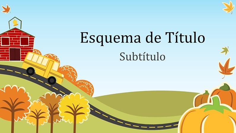 Apresentação educacional de outono (ecrã panorâmico)