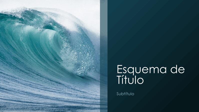 Apresentação de natureza com ondas do oceano (ecrã panorâmico)
