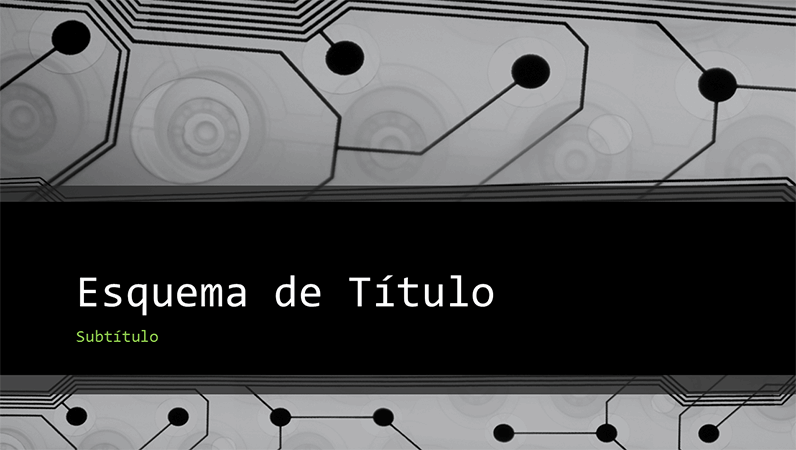 Apresentação empresarial tecnológica com design de circuito impresso (ecrã panorâmico)