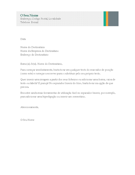 Carta empresarial (design Faixas de Venda)