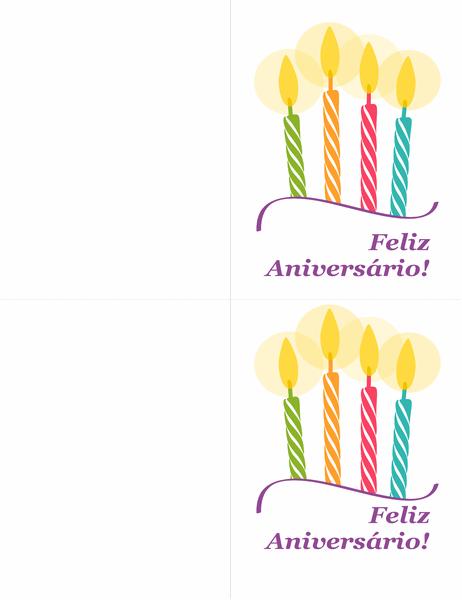 Cartões de aniversário (dois por página)