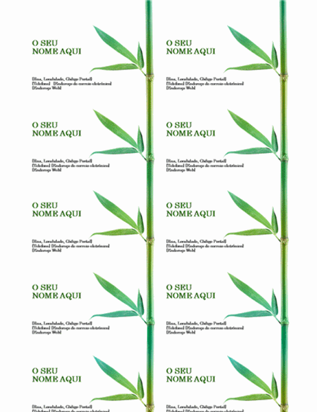 Cartões de Visita (Bambu)