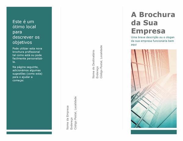 Brochura com dobra tripla (azul)