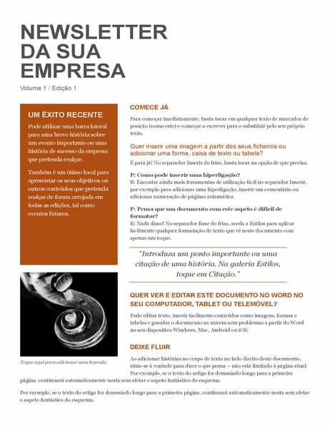 Newsletter da Empresa