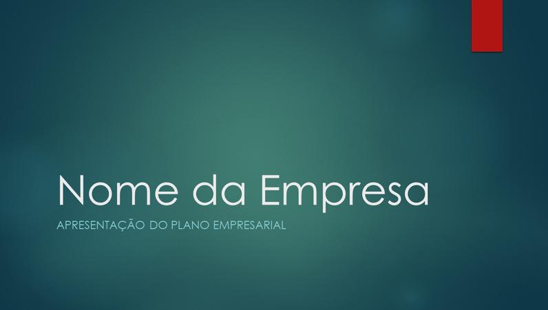 Apresentação de plano empresarial (design Ião verde, ecrã panorâmico)