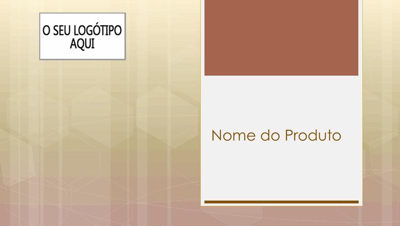 Apresentação de descrição geral de produtos para empresas