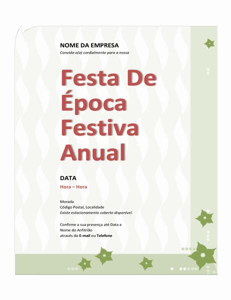 Convite de festa de época festiva da empresa