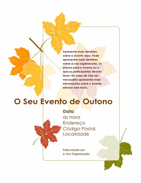 Panfleto de evento de outono (com folhas de árvores)