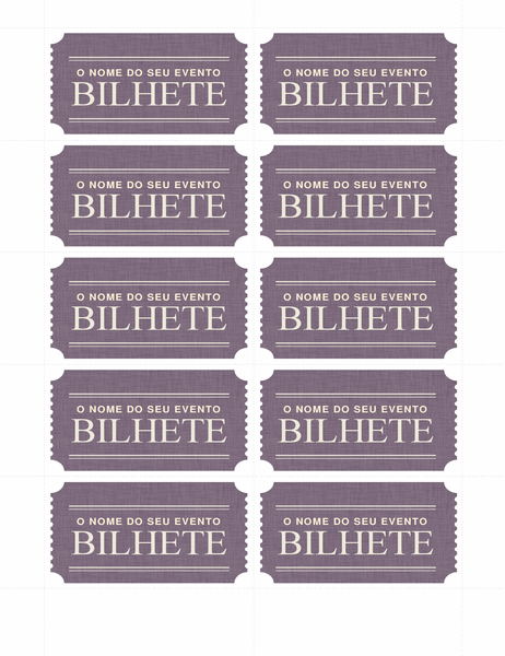 Bilhetes básicos (10 por página)