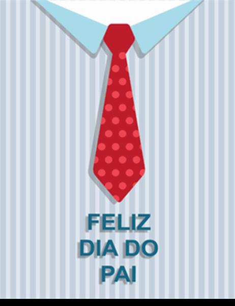 Cartão do Dia do Pai - Modelo Gravata (dobrável em quatro)