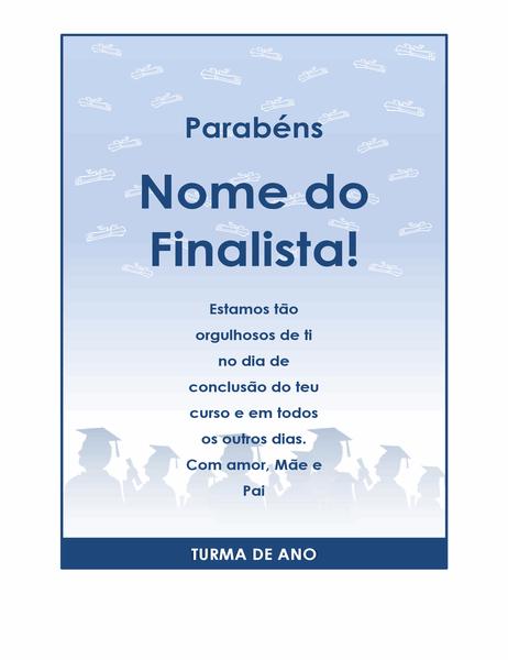 Panfleto de felicitações de fim de curso (design Festa de Fim de Curso)