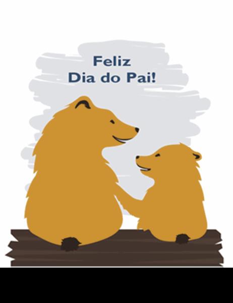 Cartão do Dia do Pai (da parte do filho, dobrável em quatro)