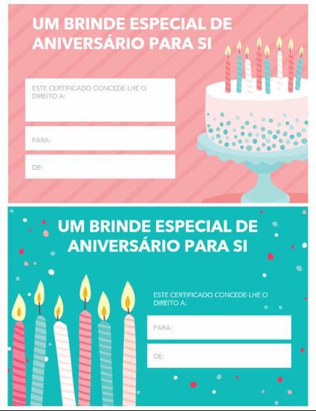 Vale de desconto de aniversário (Design brilhante)