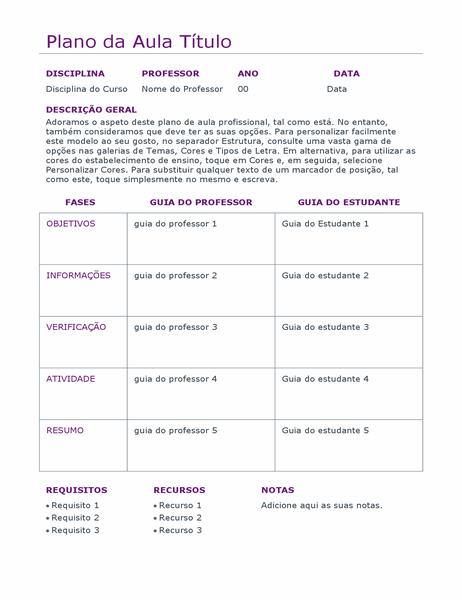 Planeador de aulas diário (cor)