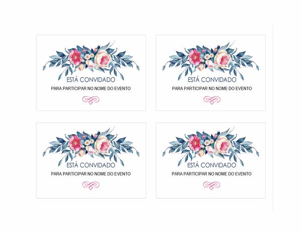Convite para festa (design floral)