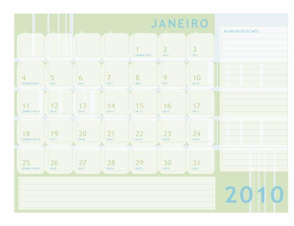Calendário juliano de 2010 (Seg-Dom)