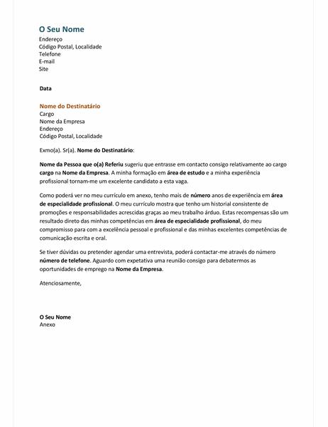 Carta de apresentação para um currículo funcional