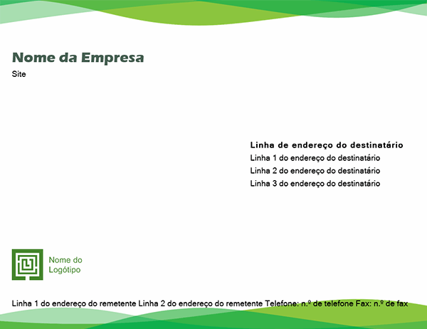 Envelope (design Onda Verde)