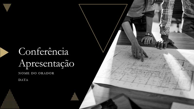 Apresentação para conferências com design geométrico