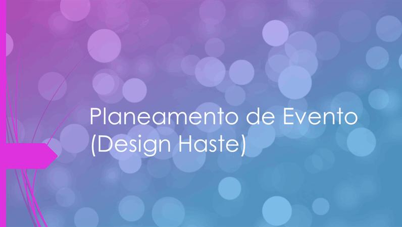 Planeamento de Evento (design Haste)