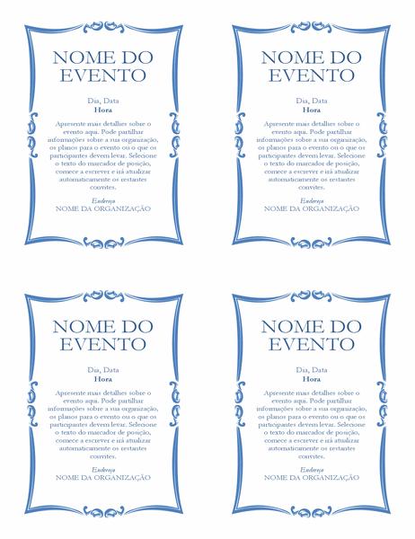 Panfleto de evento (4 exemplares)