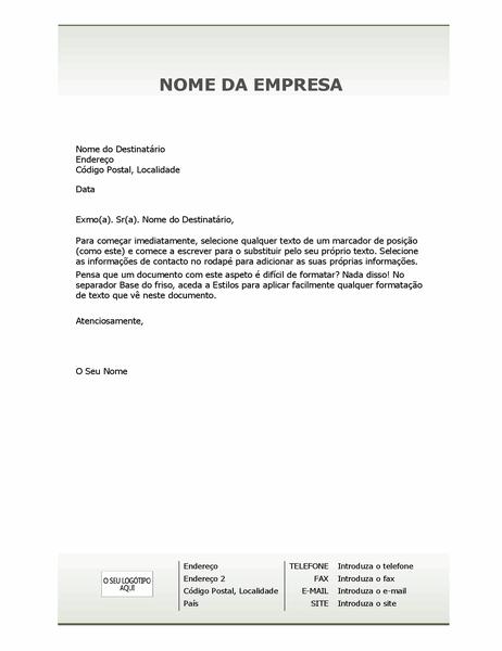 Papel de carta timbrado empresarial (design Simples)