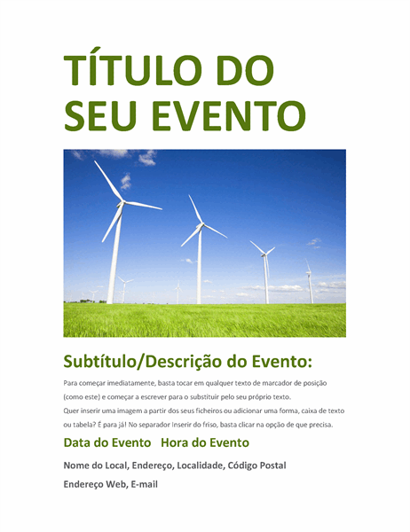 Panfleto do evento (verde)