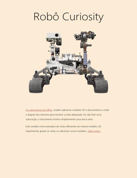 Relatório de ciências em 3D do Word (modelo do Robô de Marte)