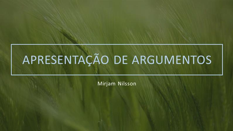 Apresentação de argumentos – tema verde