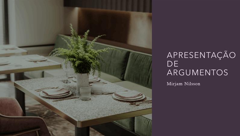 Apresentação para promoção de restaurantes