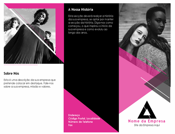 Brochura de moda