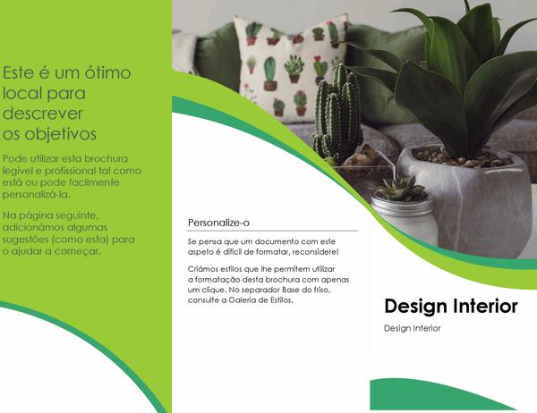 Brochura de design de interiores