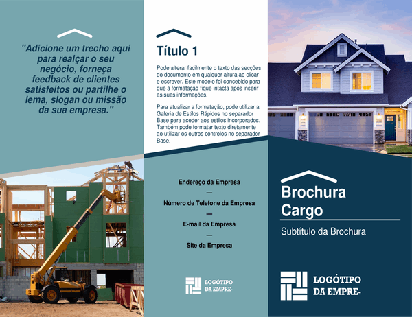 Brochura para construtor