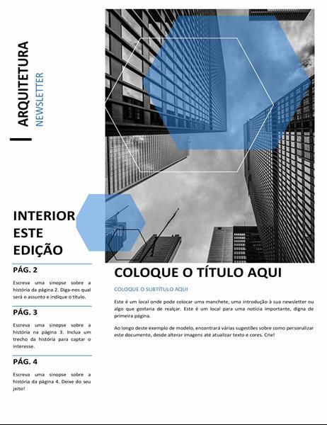 Newsletter sobre arquitetura