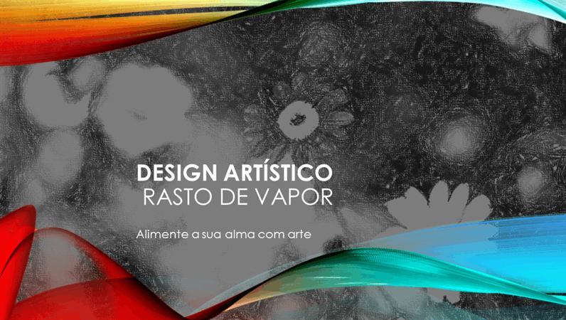 Design Trilha de Vapor para Arte