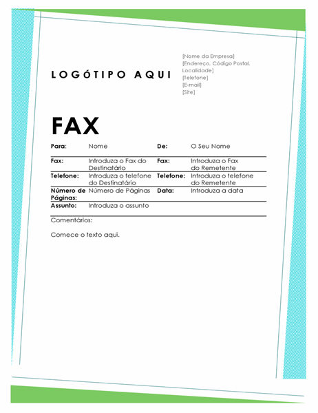 Folha de rosto de fax Geométrica